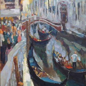 Roman Gruszecki kanał w Wenecji