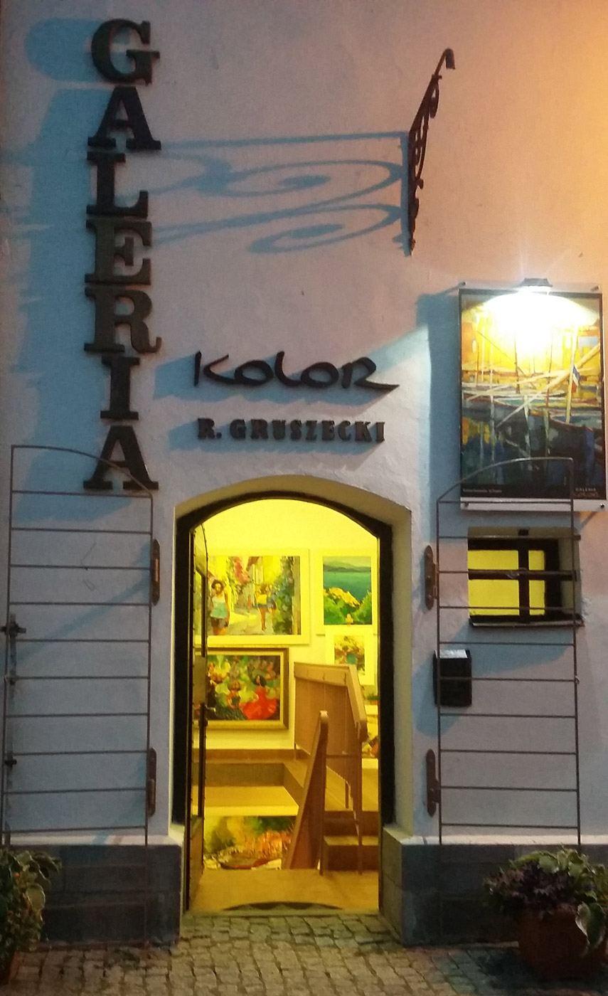 Wejście do Galerii Kolor Kazimierz Dolny