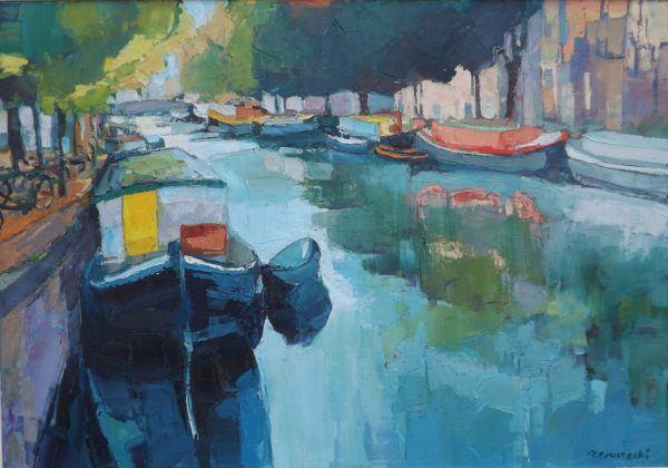 Roman Gruszecki - Barki w Amsterdamie