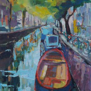 roman gruszecki kanał w Amsterdamie