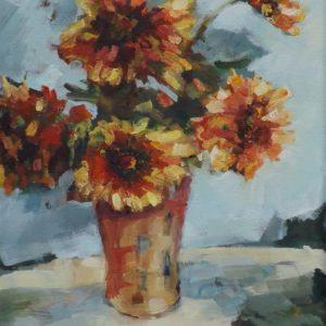 Pomarańczowe kwiaty - Agnieszka Gruszecka
