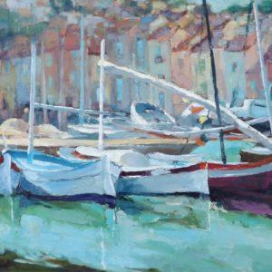 Port Cassis - obraz Romana Gruszeckiego