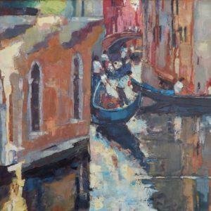 Wenecja - gondole w cieniu - Roman Gruszecki